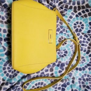 DKNY Yellow Leather Purse